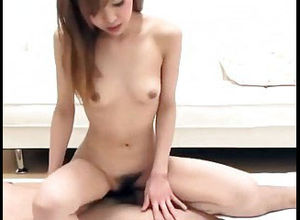 Ultra-cute asian female juggling on..