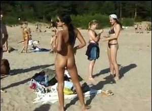 Depraved virgin nudists take off their..