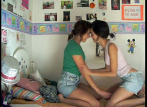 2 super-steamy young woman lesbos..