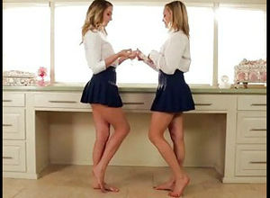 Mind-blowing twins Mia Malkova and..