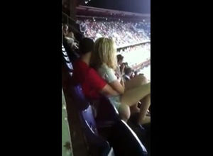 Public sex in stadium during football..