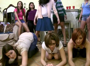Youngster school lesbos dancing and..