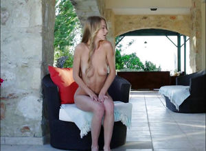 Splendid youngster ash-blonde with a..