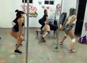 Lovely latina youngsters twerking...