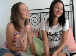 Sapphic porn, 2 uber-sexy young having..