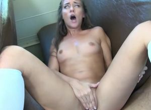 College girl breezy blows huge sausage..